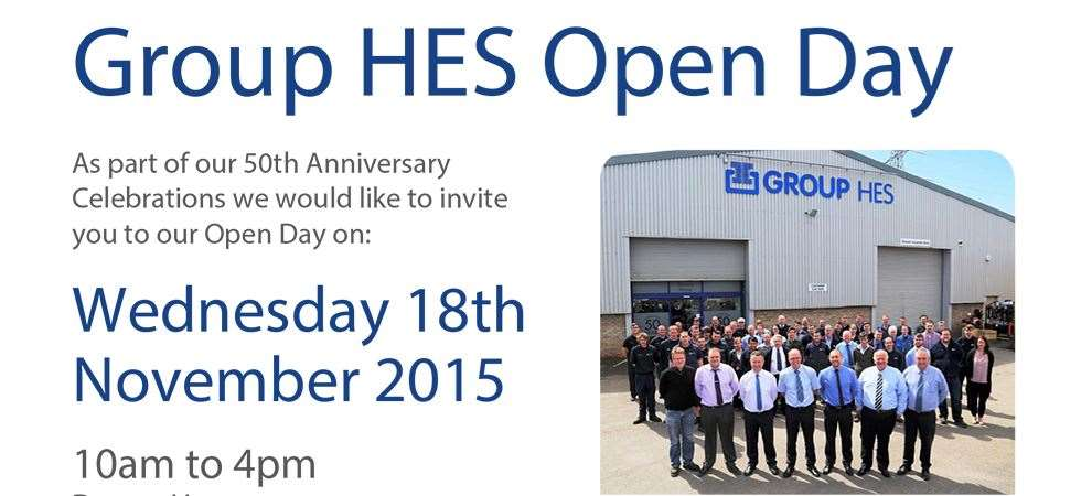 Picture of Your Invitation to Group HES' Open Day