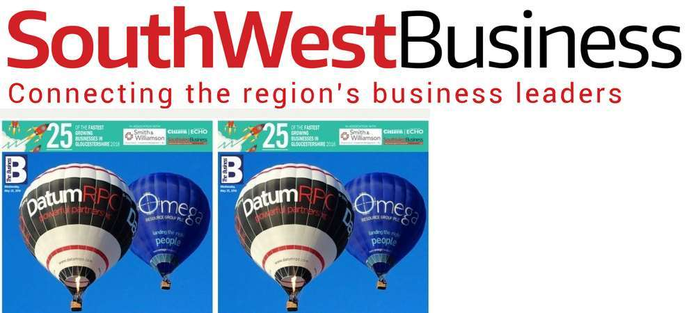 "Picture of South West Business names Group HES as one of the 25 ""Fastest Growing Businesses in Gloucestershire"""