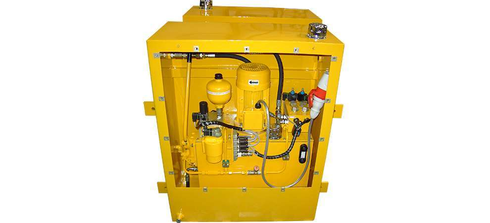 Picture of Hydraulic Units to operate the emergency braking systems on cranes