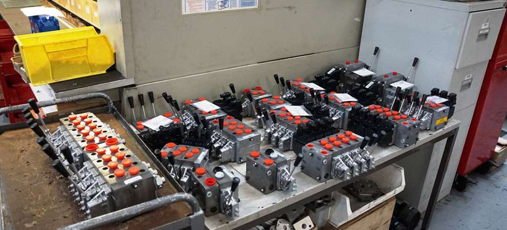 Picture of Danfoss PVG 32 and PVG 120 Valves coming out of Group HES